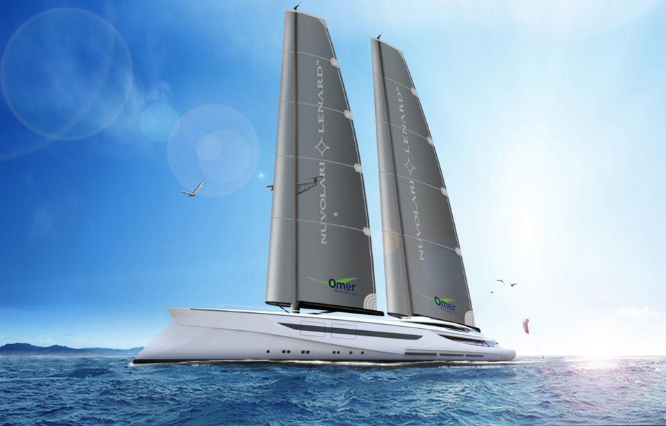The 318-foot-long sailing supertacht concept Vento by Nuvolari Lenard