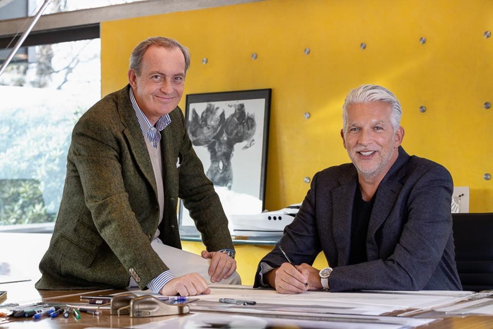 Carlo Nuvolari (à gauche) et Dan Lenard dans leur atelier