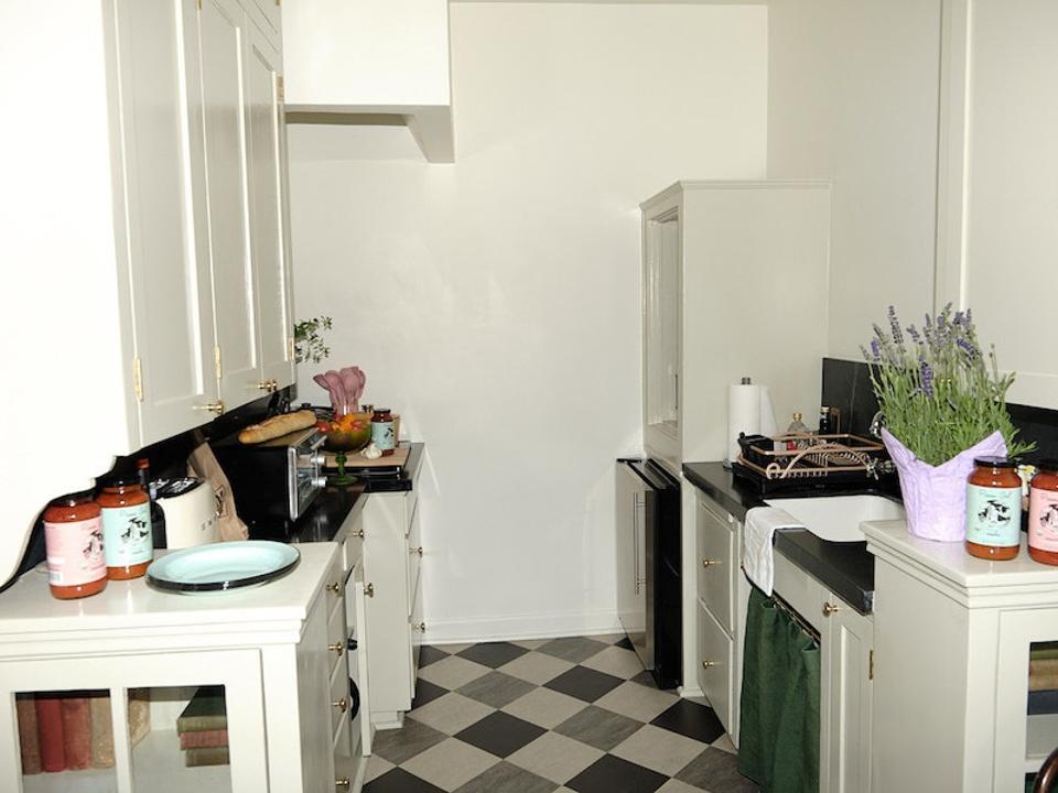 A galley kitchen
