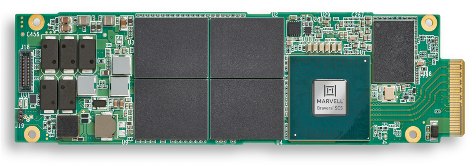 Marvell Bravara SSD Controller in an SSD