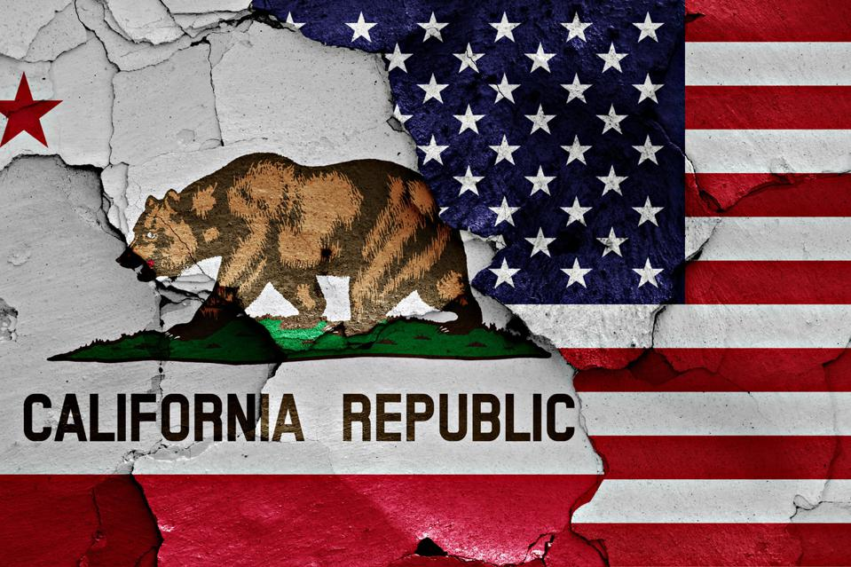 flags of California and USA