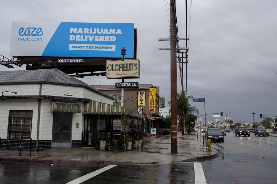 Marijuana delivery service ad