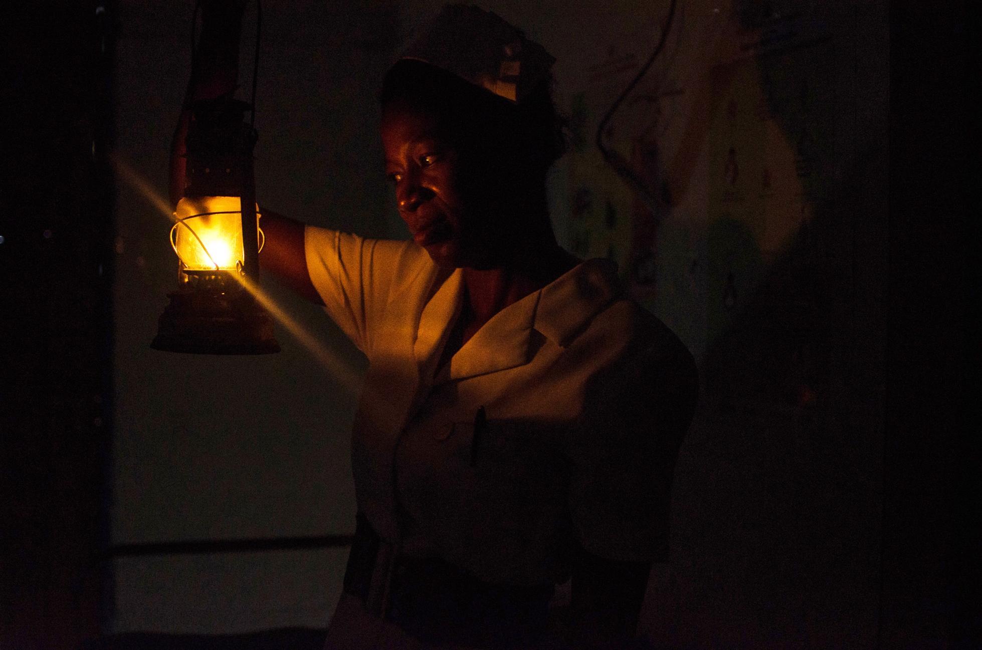 maternity ward in darkness