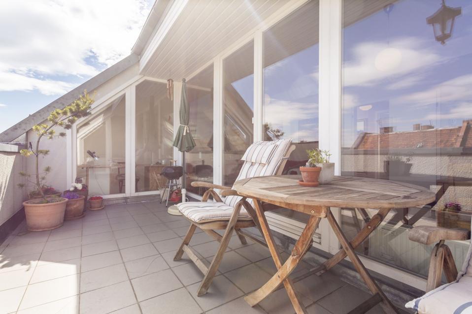 Allemagne, Berlin, maison de vacances avec toit-terrasse