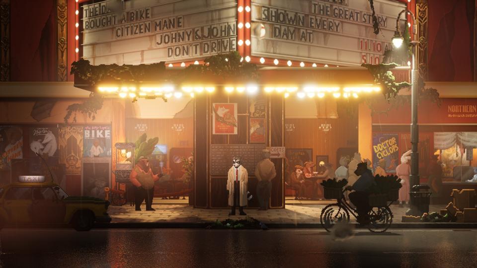 Cinema Spine Noir con un occhio di procione privato