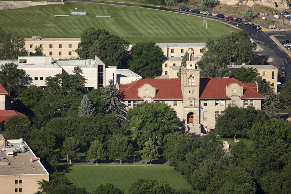 Mines campus and Guggenheim Hall Golden Colorado