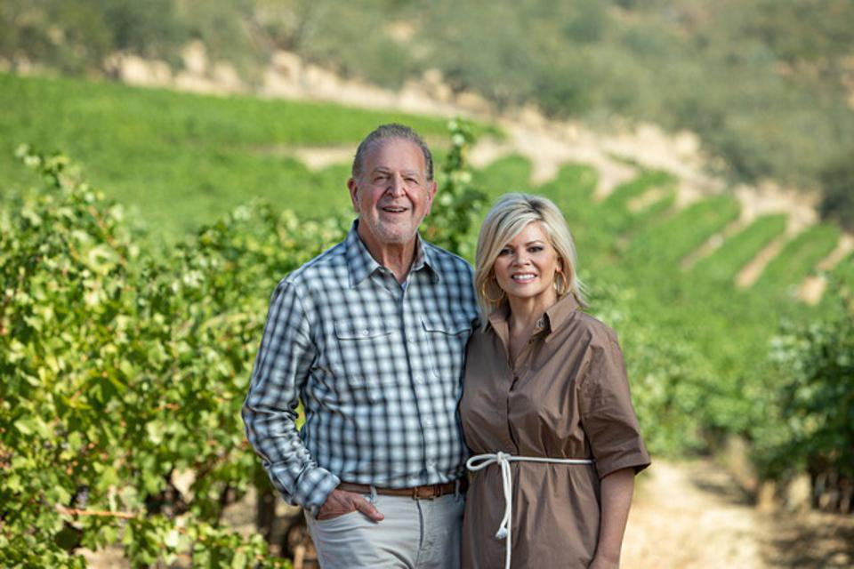 Rich and Leslie Frank in their Napa Valley vineyard.
