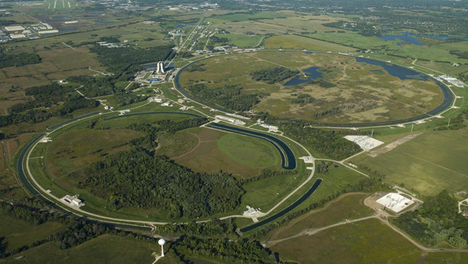 Aerial photograph of Fermilab