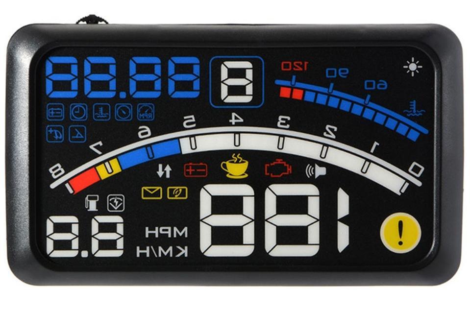 Head Up Display, Anauto 5.5 inch HD OBD2 Car GPS HUD Head Up Speed Display