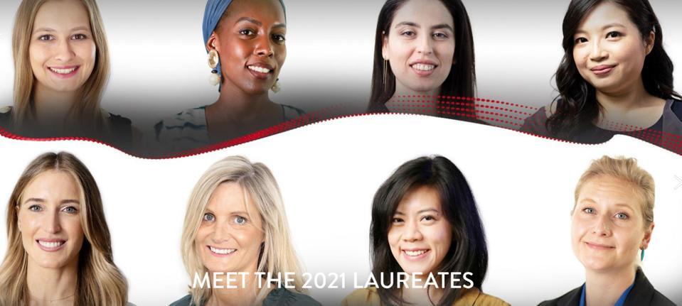 The eight winners of the Cartier Women's Initiative program