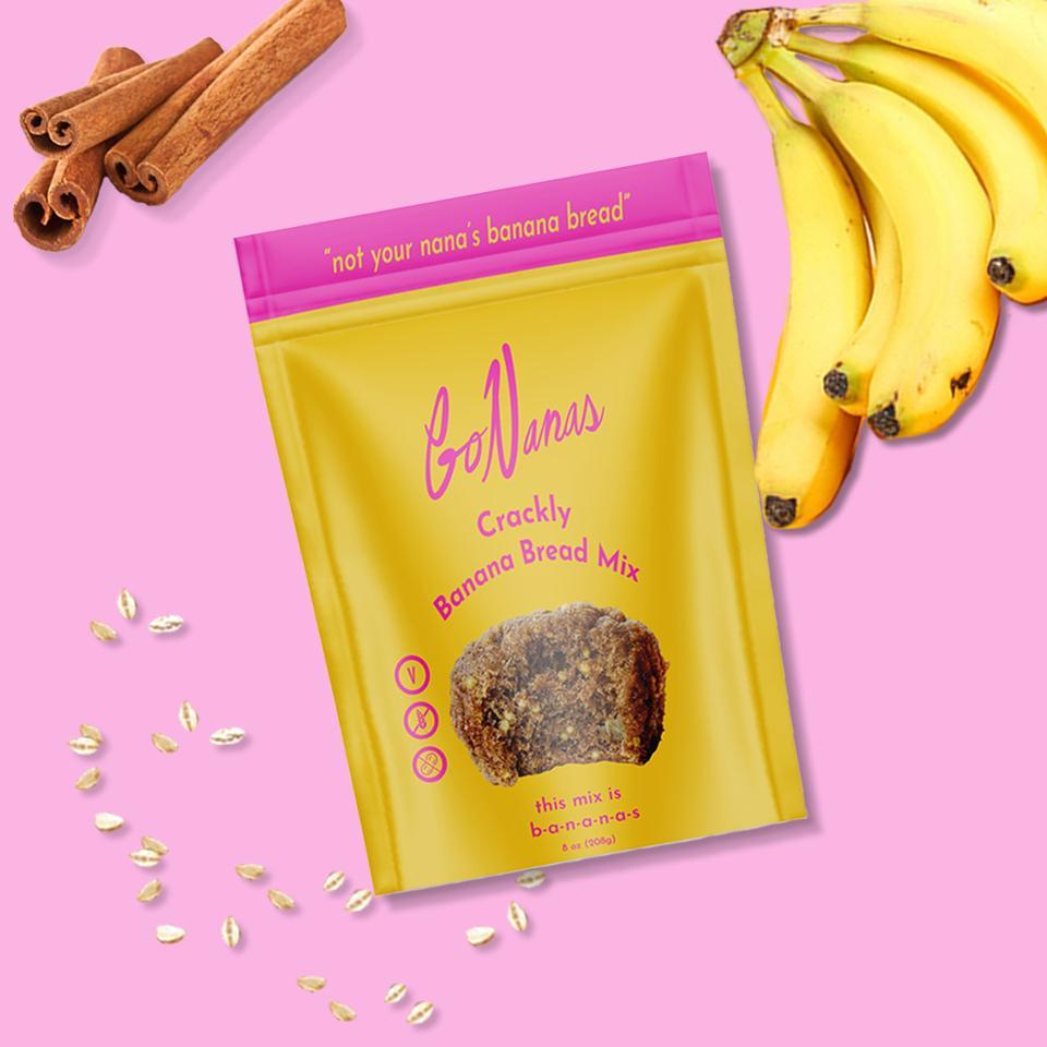 A bag of GoNanas Crackly Banana Bread