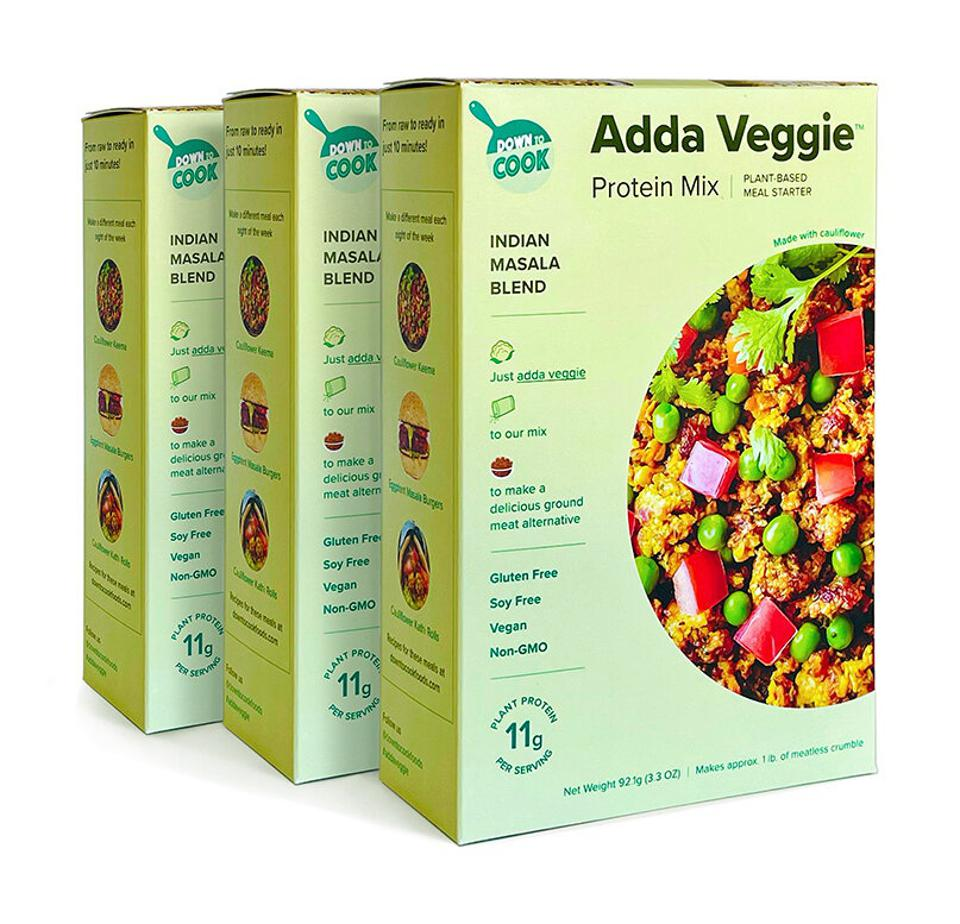 Down to Cook's Adda Veggie Mix in Indian Masala.