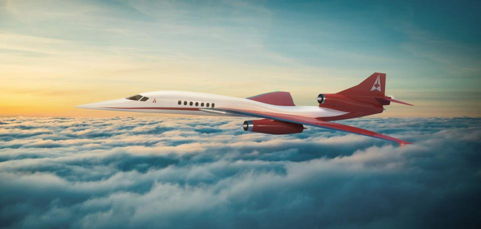Artist's depiction of the Aerion AS2 supersonic Corporate Jet