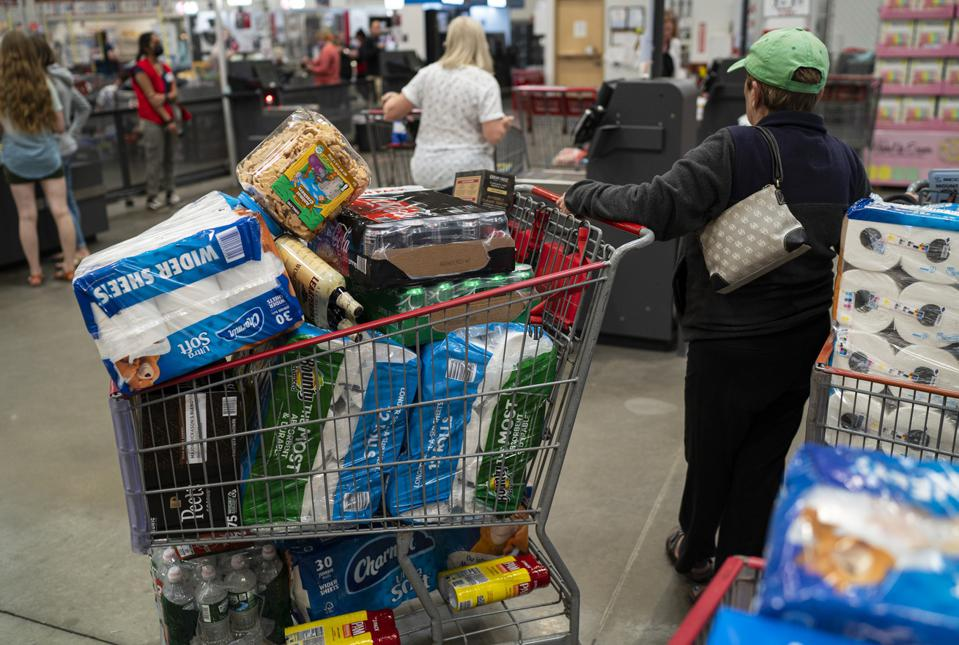 Costco Shoppers In Colchester, Vermont