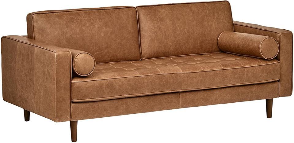 Amazon Brand Rivet Aiden Mid-Century Modern Tufted Loveseat Sofa