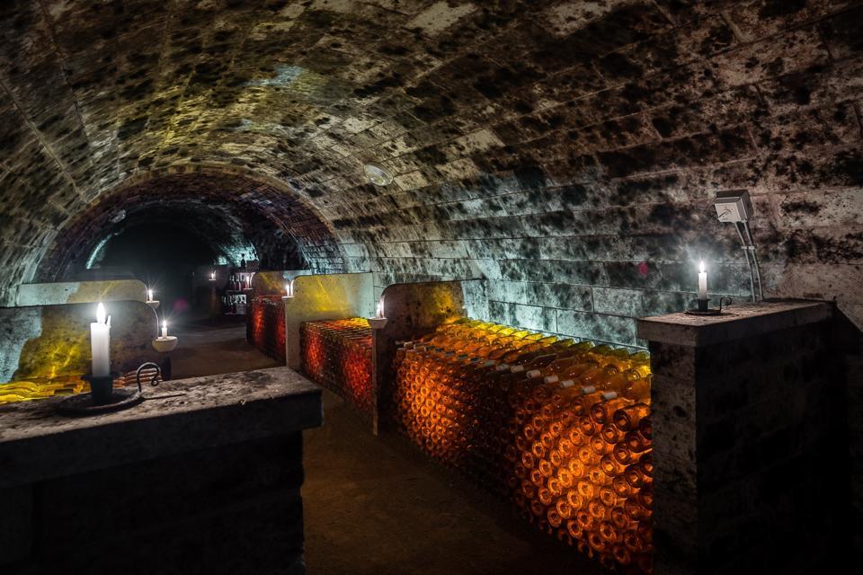 Vegas Sicilia's Cellars in Oremus in Tokaj, Hungary