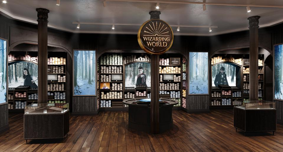 Wand store at Harry Potter New York