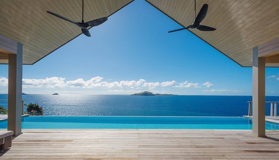 Pool deck in Kokomo Private Island Fiji.