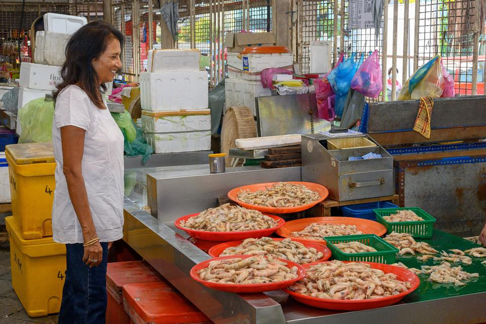 Nutrition researcher Shakuntala Thilsted, at a fresh fish market