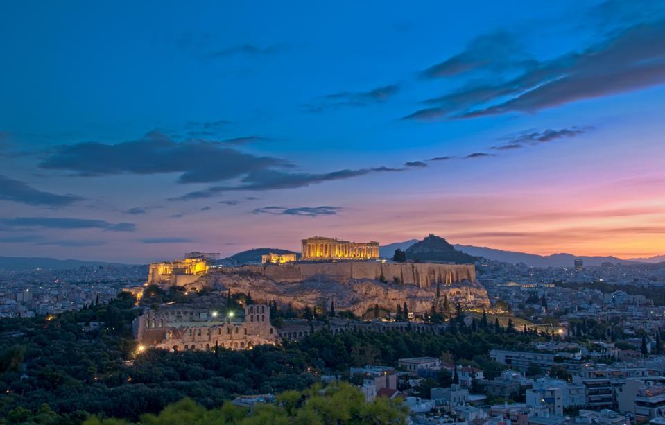 Acrópolis de Atenas al amanecer