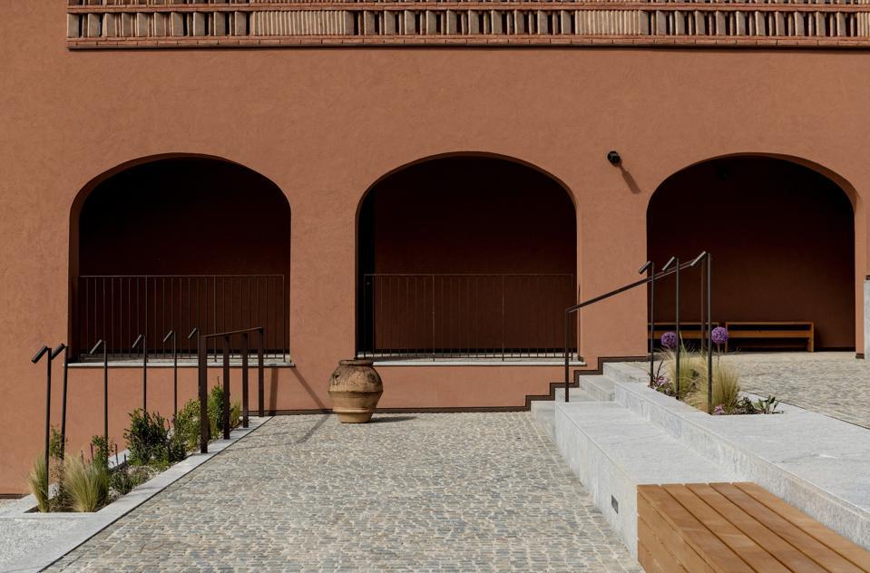 The warm exterior of Casa di Langa in Piedmont.