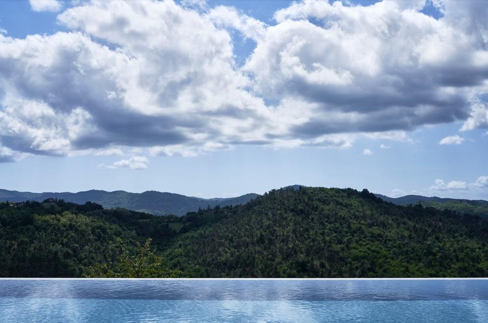 The pool at Nordelaia, Piedmont.