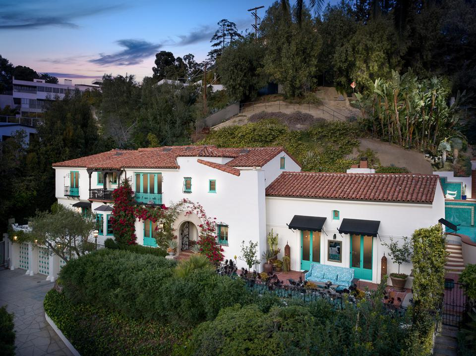 Spanish Colonial home on a hill