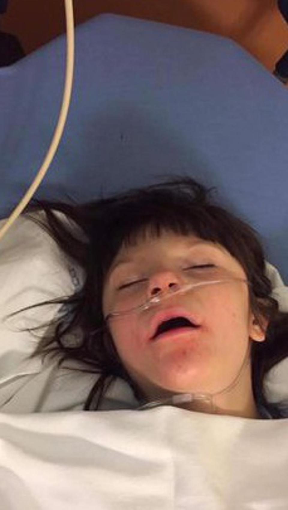 Billy Caldwell lying in a hospital bed before having access to medical cannabis.