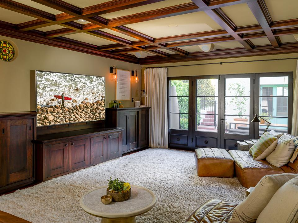 Lounge room at home with big screen TV