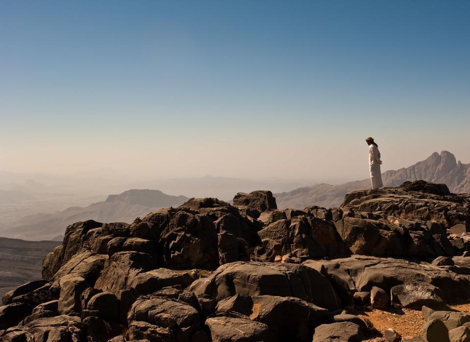 An exterior photo of cliffs at AlilaJabal Akhdar in Oman.
