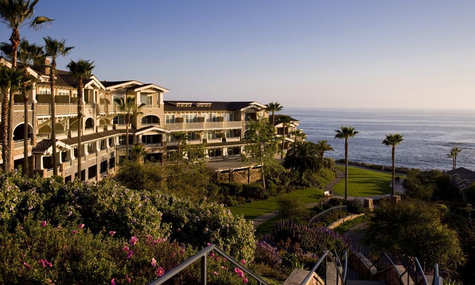An exterior photo of Montage Laguna Beach resort.