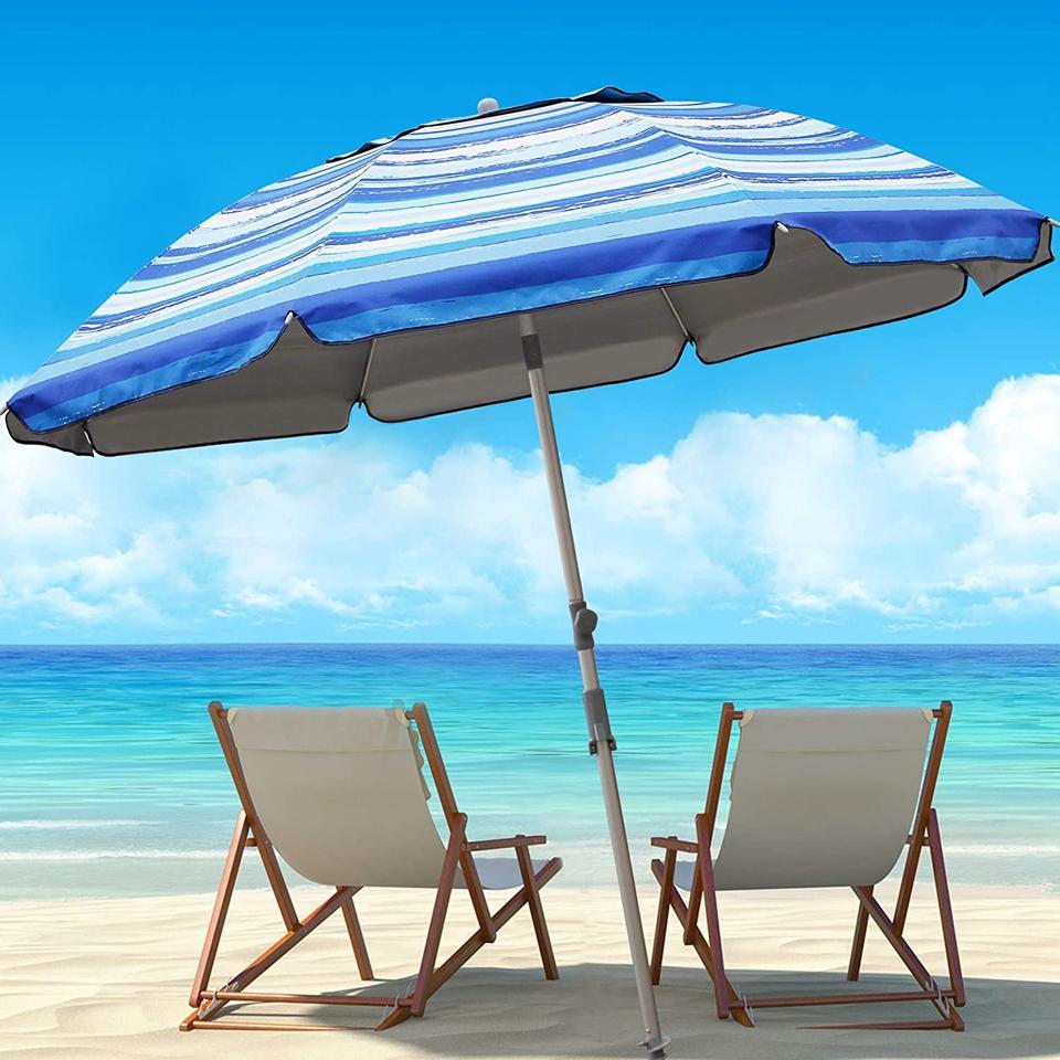 Blissun 7' Portable Beach Umbrella