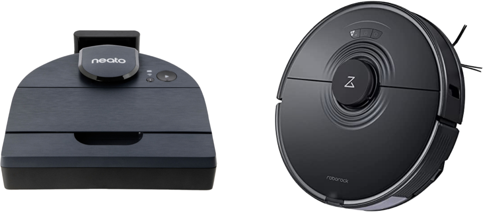 Neato Robotics D8 and Roborock S7 Robot Vacuum with Sonic Mopping