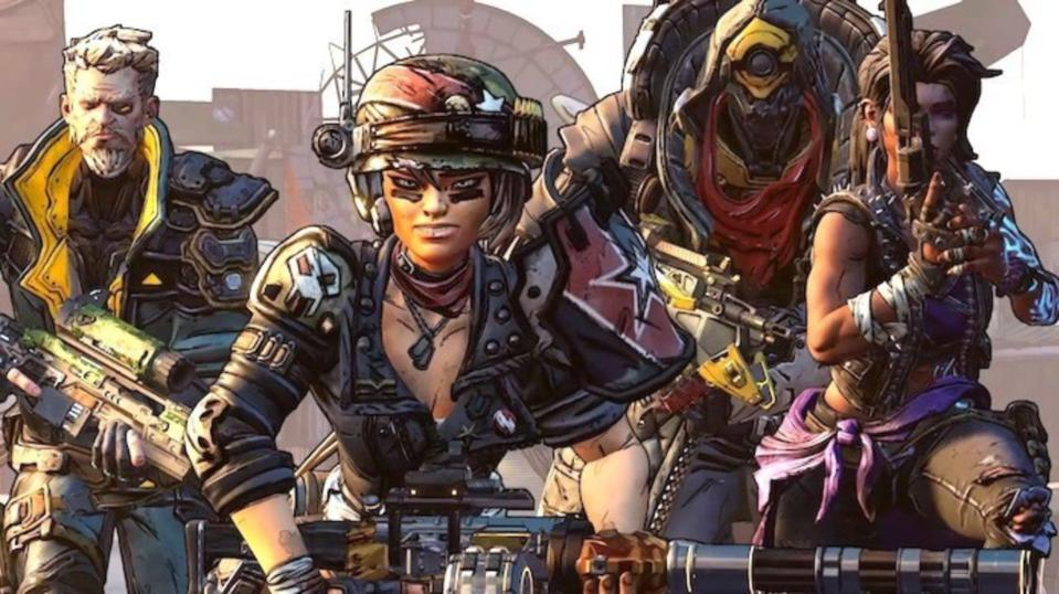 Borderlands characters looking tough