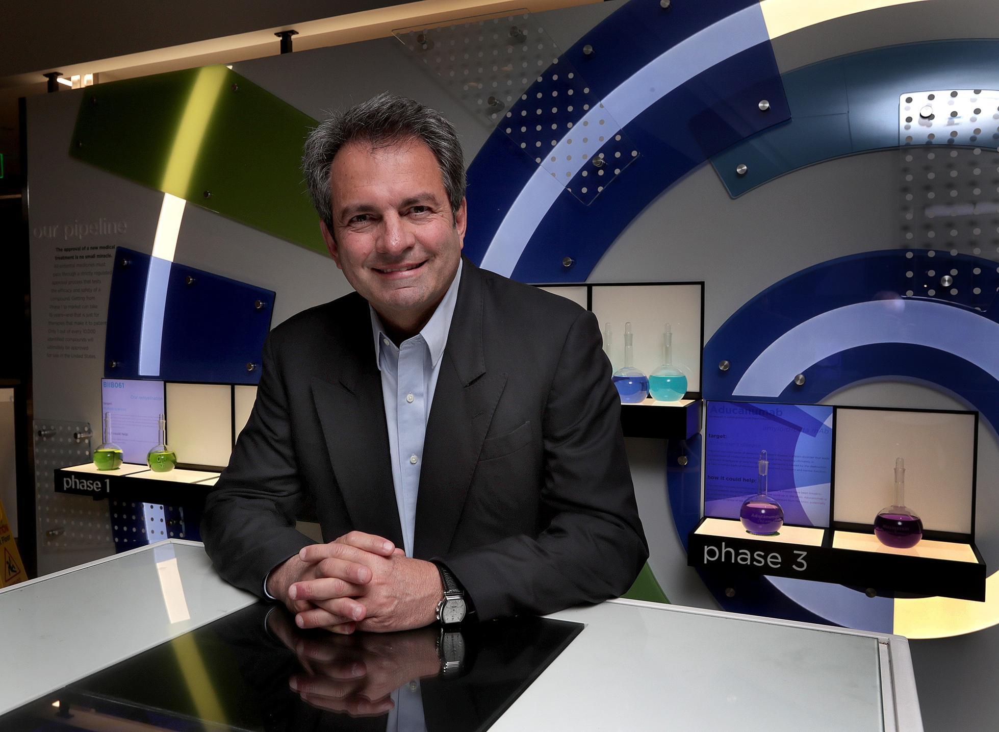 Biogen CEO Michel Vounatsos in 2017.