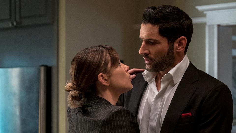 Lucifer and Chloe Decker embrace in Lucifer