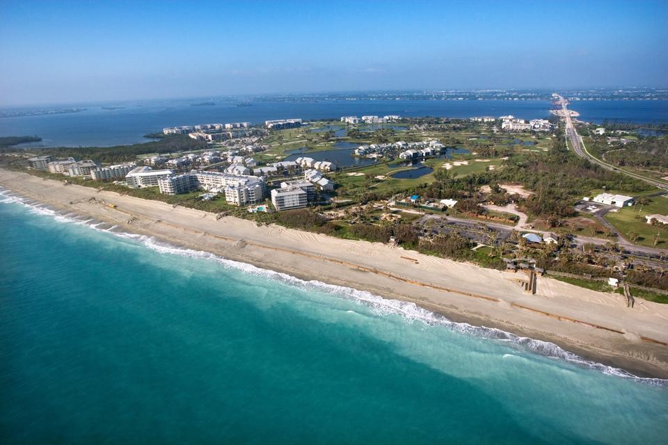 Aerial view of Vero Beach, Florida