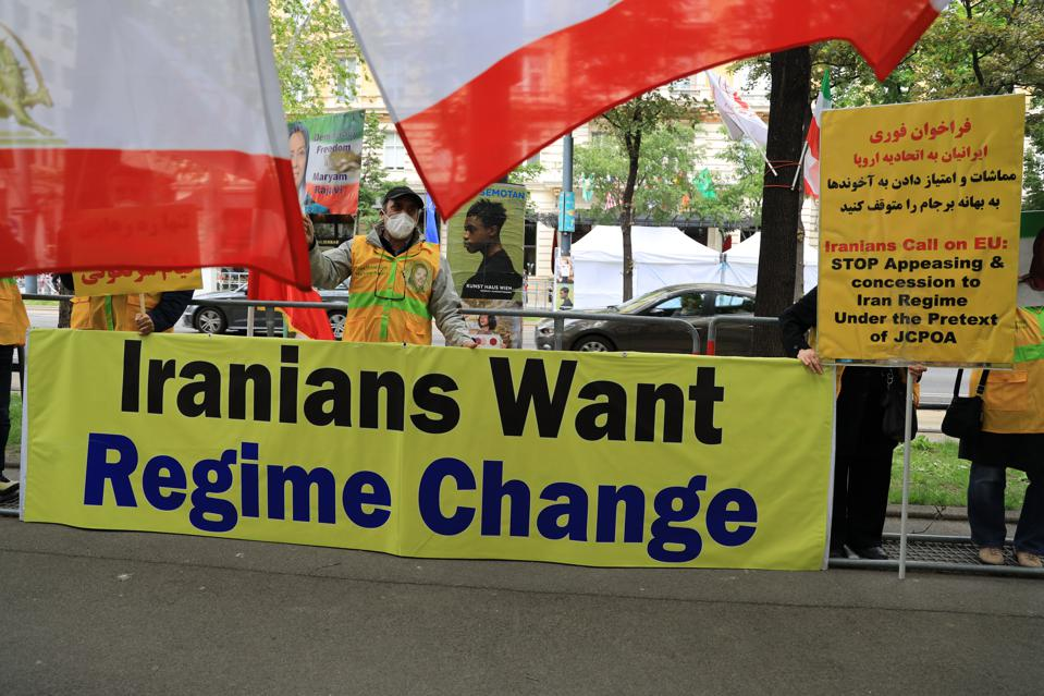 Iranian Opposition Protests In Vienna