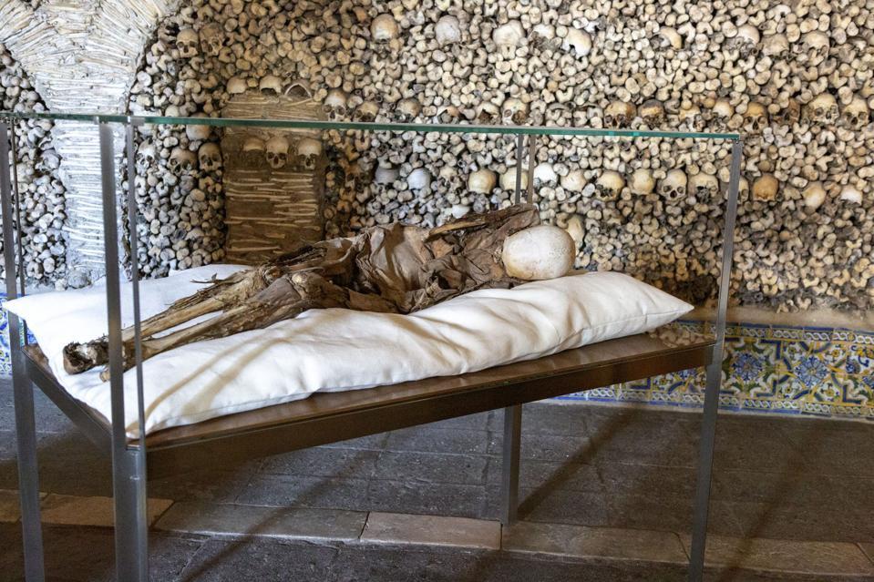 The Chapel of Bones, Capela dos Ossos, city of Evora, Alto Alentejo, Portugal
