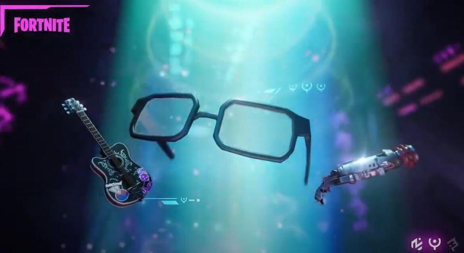 Fortnite guitar, glasses and alien weapon