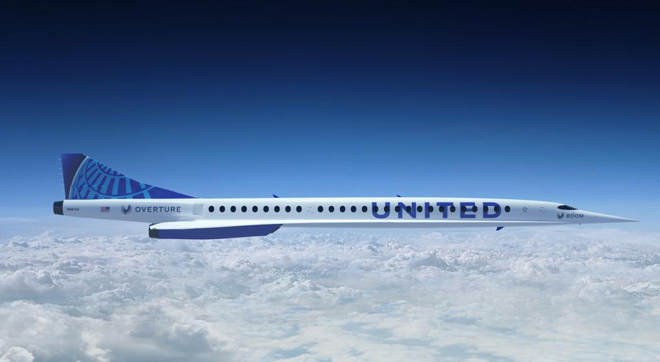 Image of an Overture supersonic airliner.