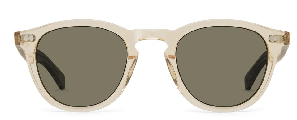 Garrett Leight's first ever eco-friendly sunglasses. The frames are made with bioplastic acetate, derived from vegetable starch and bioethanol, and the case and cleaning cloth are all produced with recycled materials.
