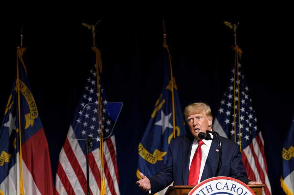 Former President Trump addresses North Carolina GOP Convention