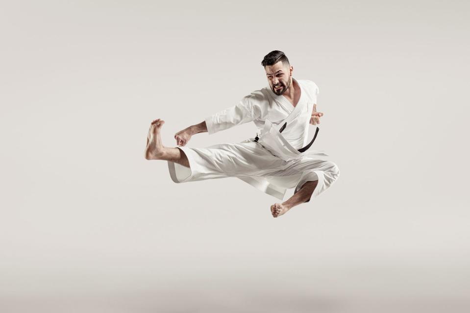 Karateka Ariel Torres is part of Team Milk.