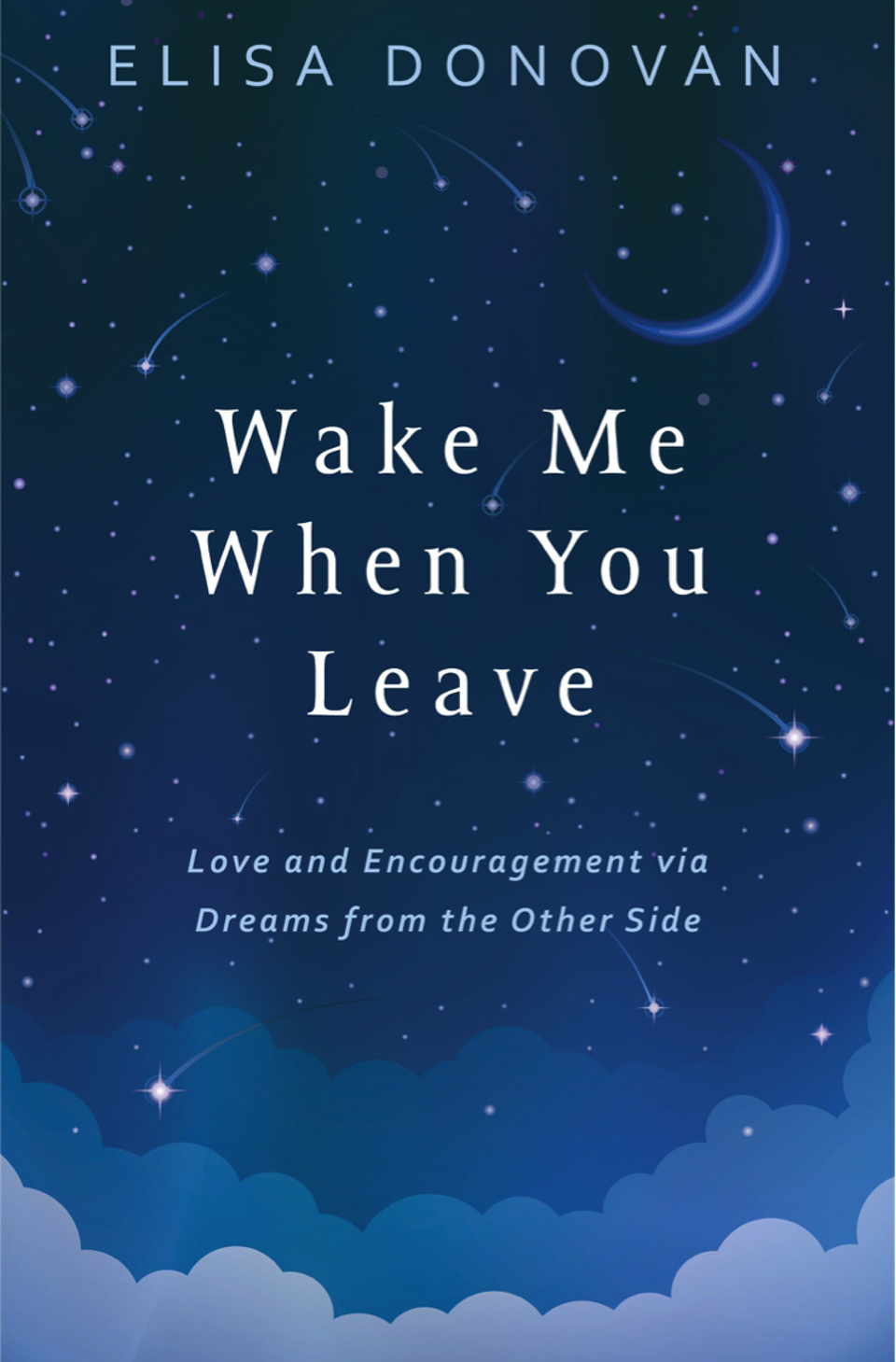 The book cover for Elisa Donovan's book Wake Me When You Leave