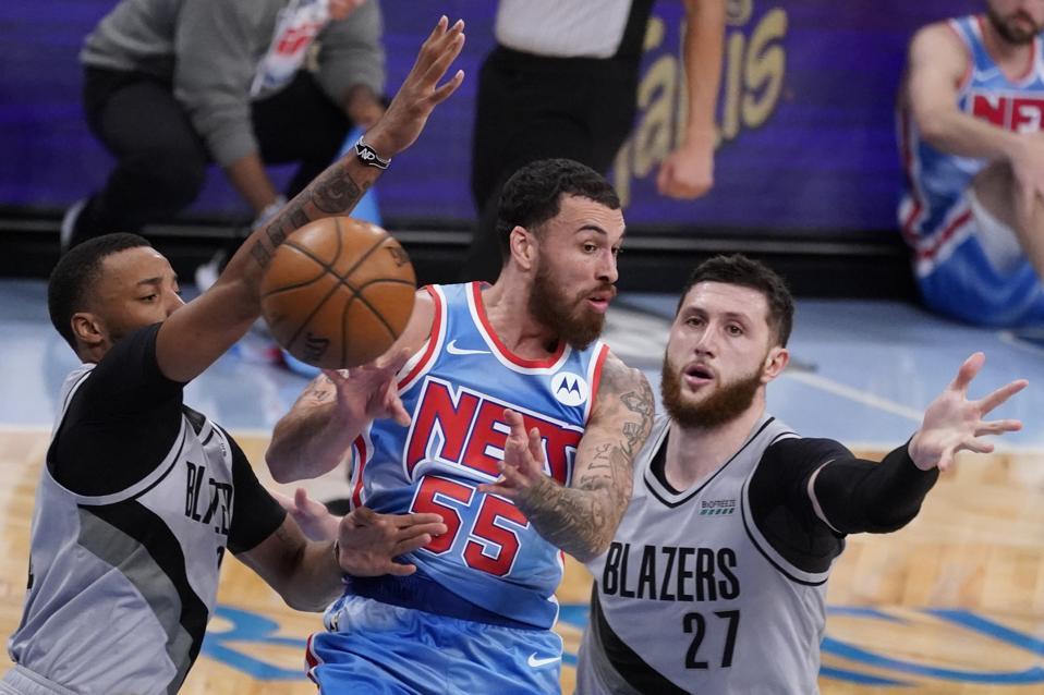 Trail Blazers Nets Basketball