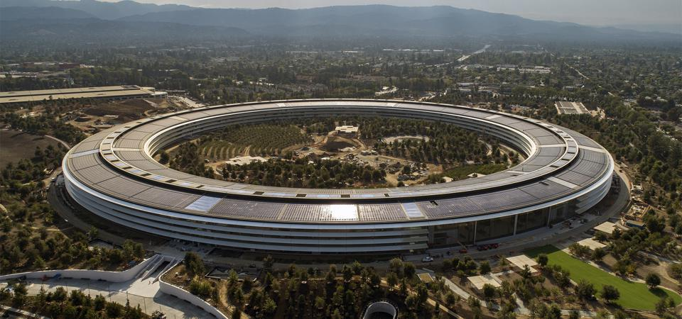 The Apple Park campus in Cupertino, California, on Thursday, September 7, 2017.  (LiPo Ching/Bay Area News Group)