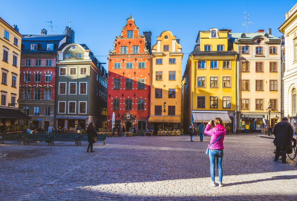 Gamla Stan, the old town of Stockholm, Sweden.