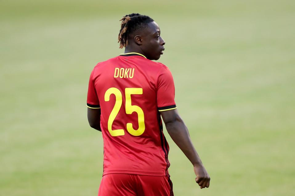 Belgium midfielder Jeremy Doku