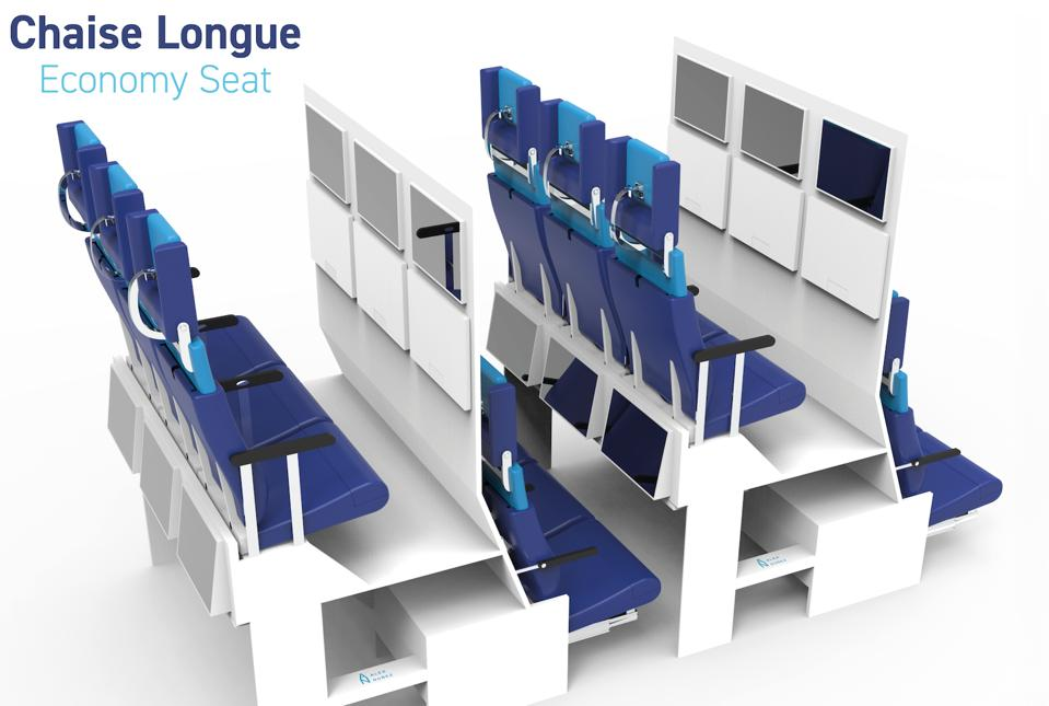 The Chaise Longue concept for economy seating by Alejandro Nuñez Vicente from Delft University of Technology